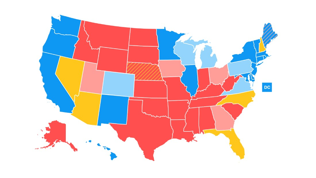 Road to 270: CNN\'s latest electoral college map