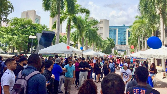 Citizen University, in partnership with the Knight Foundation, holds a block party at an early voting location in Miami.