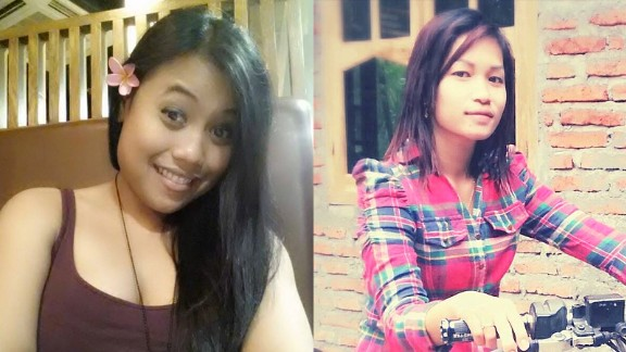 Jutting's victims Seneng Mujiasih and Sumarti Ningsih.