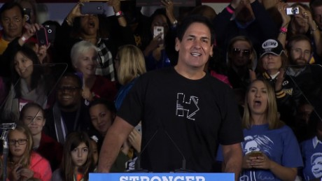 Mark Cuban Clinton rally
