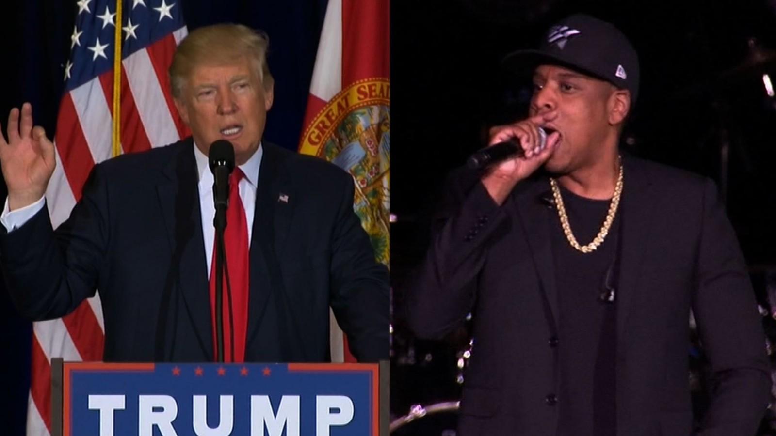 Trump hits Clinton over Jay Z's profanity at concert