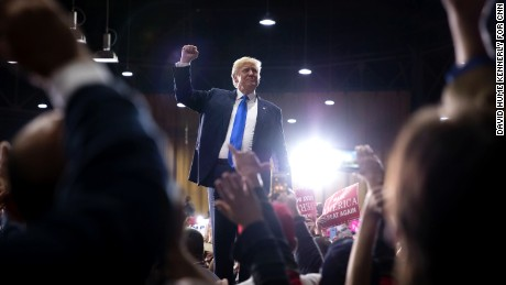 Republican presidential candidate Donald Trump at a rally in Denver, Colorado, November 5, 2016.
