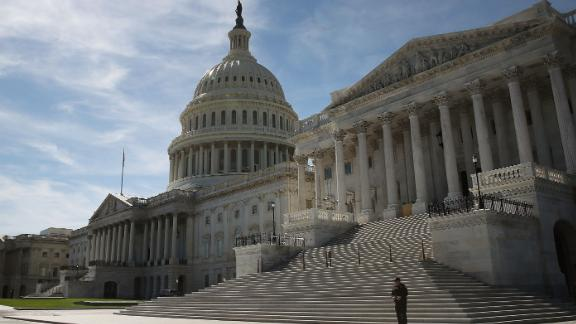 WASHINGTON, DC - OCTOBER 11: The Senate side of the US Capitol is shown October 11, 2016 in Washington DC. House and Senate Republicans are in a close race with Democrats to keep control of both houses of Congress.  (Photo by Mark Wilson/Getty Images)