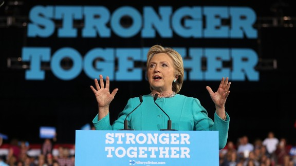 Clinton addresses a campaign rally in Cleveland on November 6, two days before Election Day. She went on to lose Ohio -- and the election -- to her Republican opponent, Donald Trump.