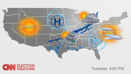 Tuesday Weather Map.Election Day Forecast Rain Possible For A Few Key States Cnnpolitics