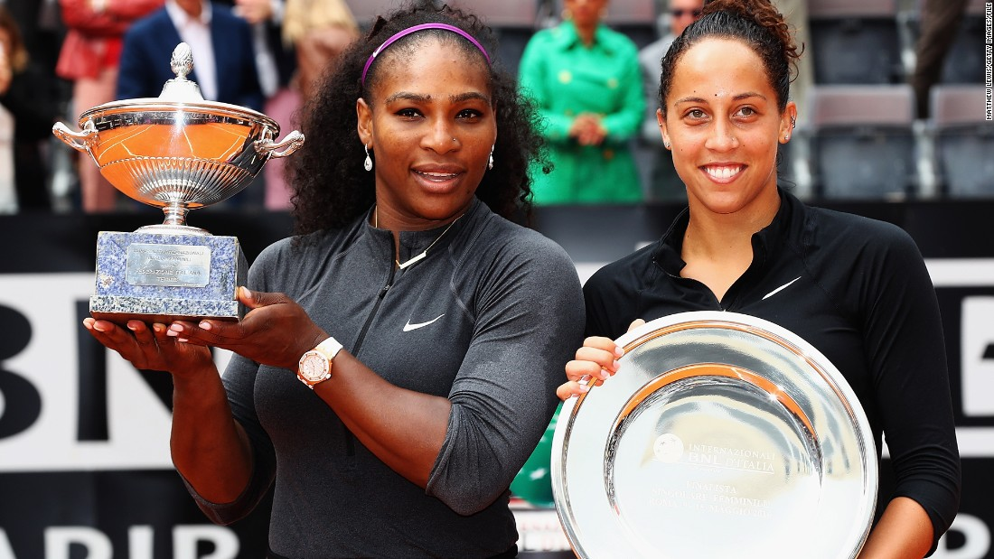 Their most recent meeting came in the final of the Italian Open back in May, that Williams also won in straight sets.
