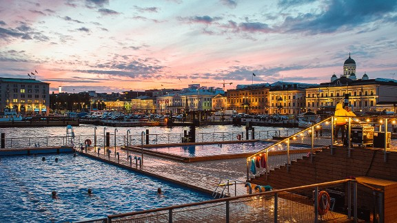 Allas Sea Pool, Helsinki: Helsinki's public sauna complex Allas Sea Pool provides the perfect backdrop for pre-Lunar New Year cleansing.
