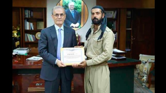 Abdulrahman was presented with a certificate of thanks for his daring rescue.