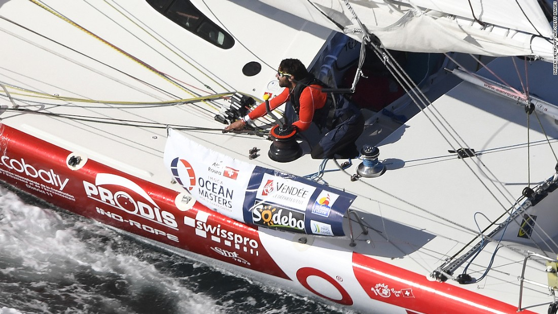 Swiss skipper Alan Roura, aboard La Fabrique, is the youngest competitor in this year's race at the age of 23.