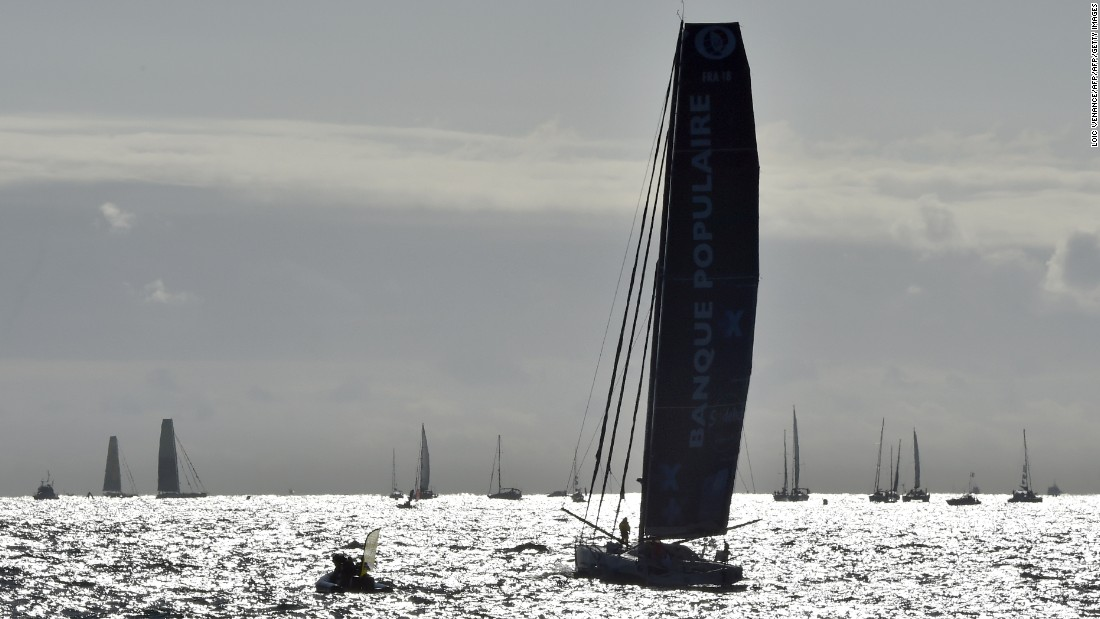 The sailors race 60-foot (18.28-meter) monohull boats, with France having won all seven titles so far.