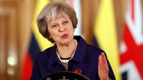 British Prime Minister Theresa May took office after David Cameron resigned in July 2016. Cameron announced his resignation after UK voters chose to leave the European Union.