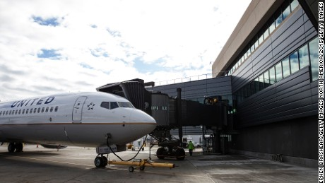 SEATTLE, WA - OCTOBER 19: An United Airlines Boeing 737 is parked out front of the new Boeing 737 Delivery Center on October 19, 2015 in Seattle, Washington. The larger facility will better accommodate the increased 737 production rates. (Photo by Stephen Brashear/Getty Images)