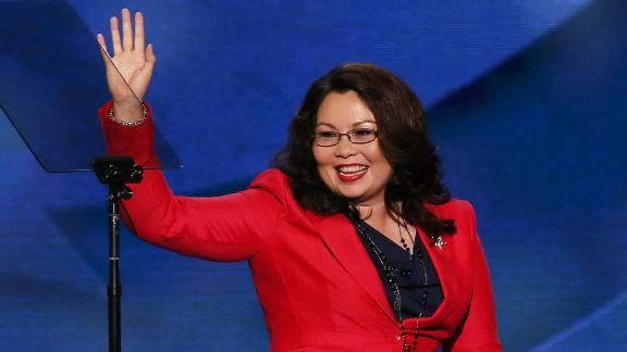 CHARLOTTE, NC - SEPTEMBER 04:  Illinois nominee for Congress Tammy Duckworth leaves the stage after speaking during day one of the Democratic National Convention at Time Warner Cable Arena on September 4, 2012 in Charlotte, North Carolina. The DNC that will run through September 7, will nominate U.S. President Barack Obama as the Democratic presidential candidate.  (Photo by Alex Wong/Getty Images)
