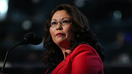 Duckworth calls out 'Cadet Bone Spurs' after Trump's 'treasonous' remark