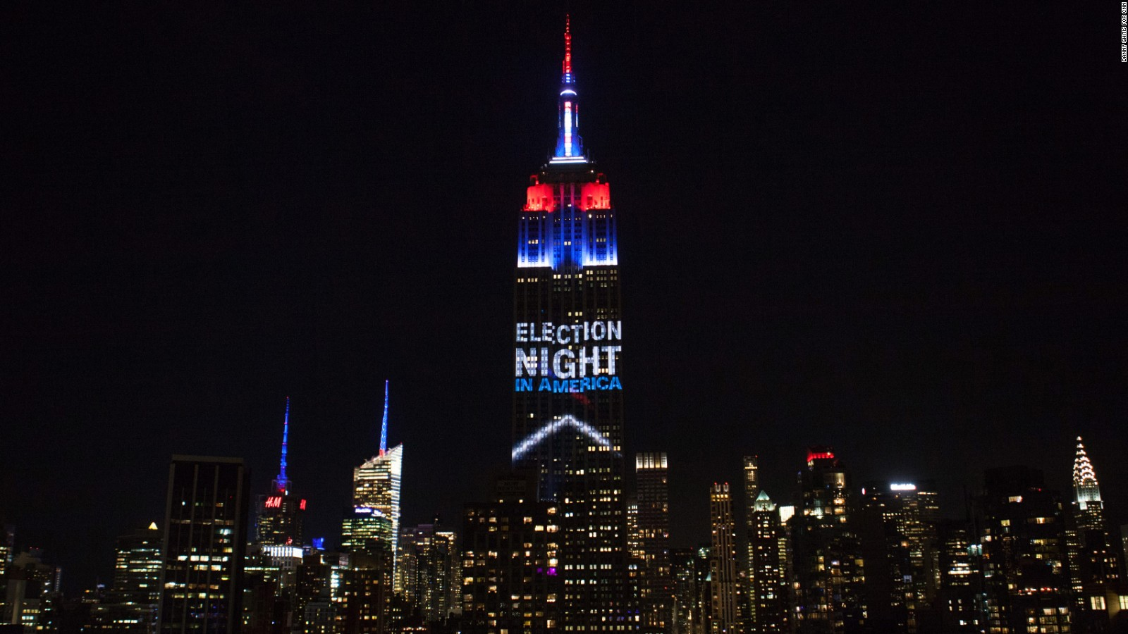 Perfect Empire State Building Lights Up On Election Night   CNN Video Design Inspirations