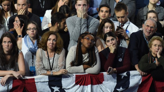 Hillary Clinton supporters react to election results on November 8. King also felt such despondency, often right after some of his biggest victories.