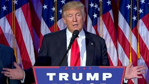 trump acceptance speech hands