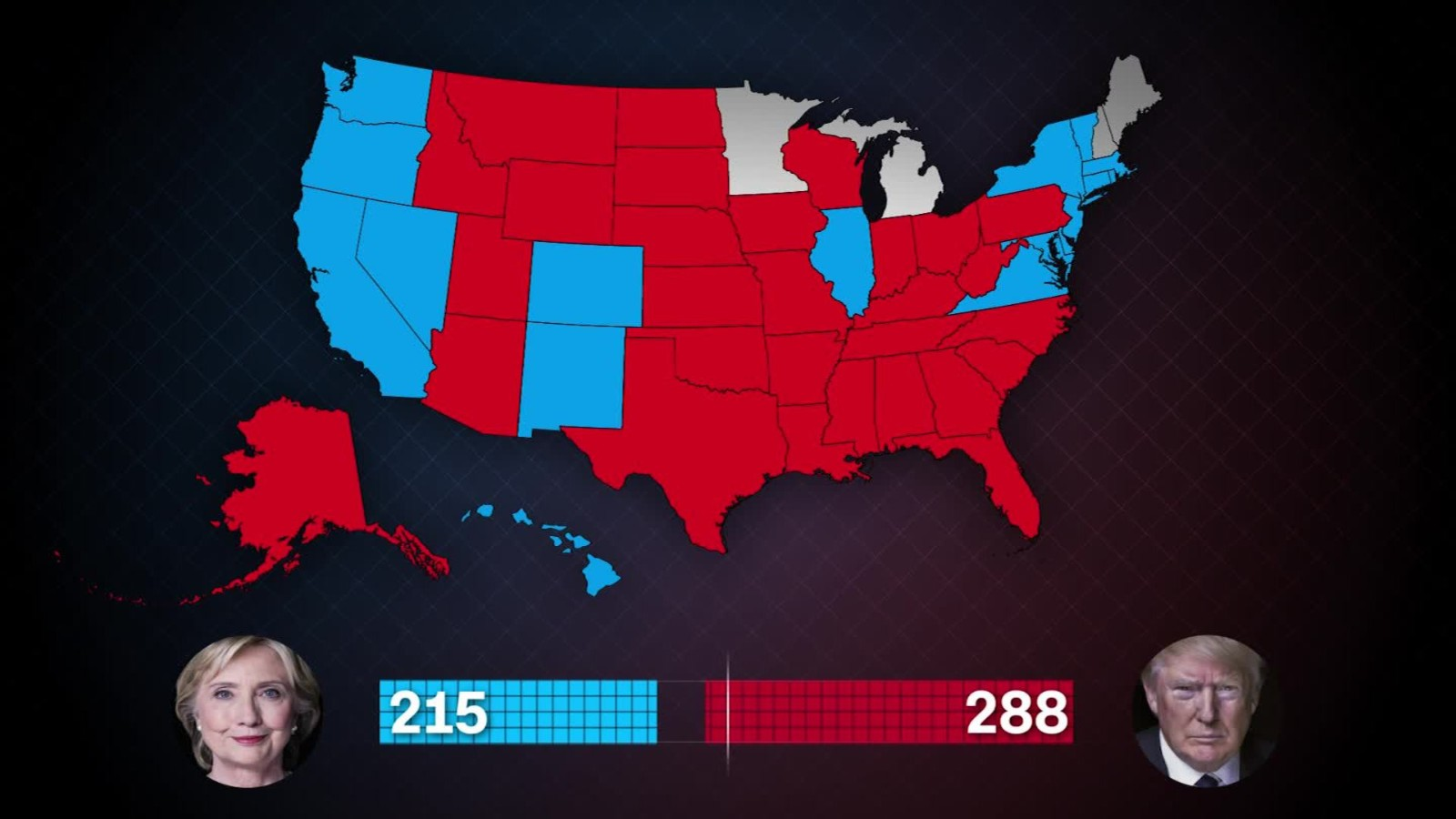 Trump Won States Map.State By State How Trump Won Cnn Video