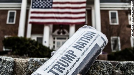 New Jersey newspaper announces Trump victory