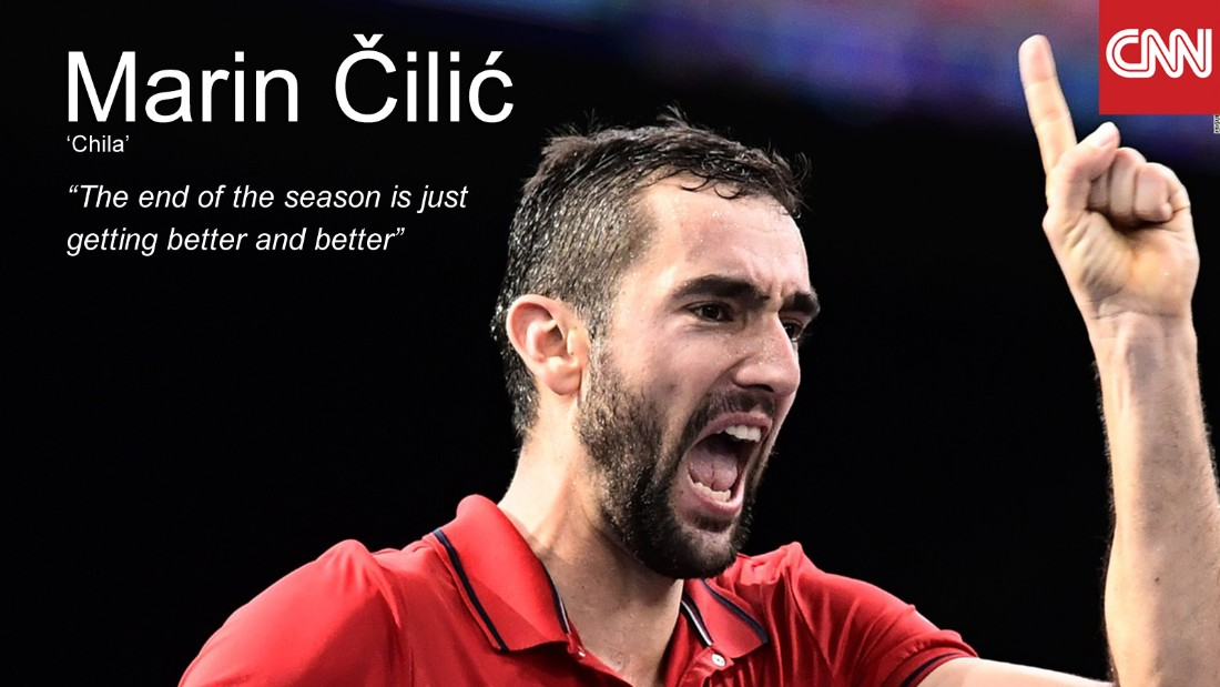 Standing at 198cm, Cilic is the tallest of the ATP finalists and a full 20cm taller than opponent Nishikori. He reached a third consecutive Wimbledon quarterfinal in 2016, but lost out to Roger Federer despite leading by two sets and holding three match points. Capping a resurgent end to 2016, Cilic has led Croatia to the Davis Cup final with wins over Belgium, USA and France, and will take to the court against Del Potro's Argentina later in November. Murray partly has Cilic to thank for his No. 1 berth -- he upset Djokovic with a supreme display of power tennis in the Paris Masters quarterfinal, beating the Serbian for the first time in his 15th attempt. <br /><br />• Titles in 2016: <strong>2</strong> Cincinnati Masters, Swiss Indoors Basel<br />• Aces in 2016: <strong>636</strong><br />• Win percentage in 2016: <strong>69%</strong><br />
