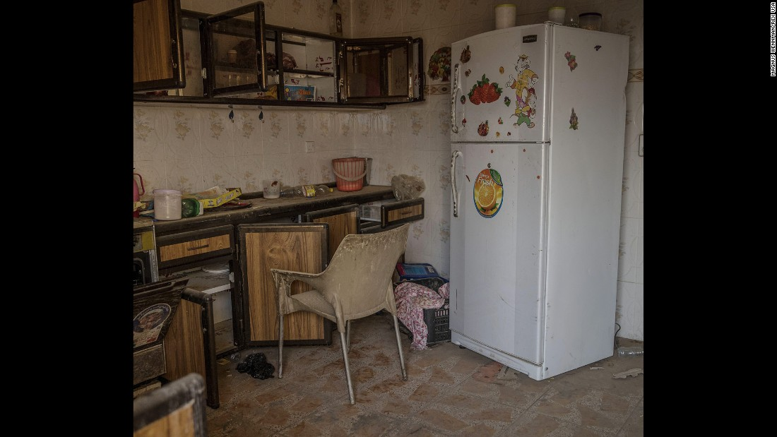 Inside one abandoned home's kitchen.