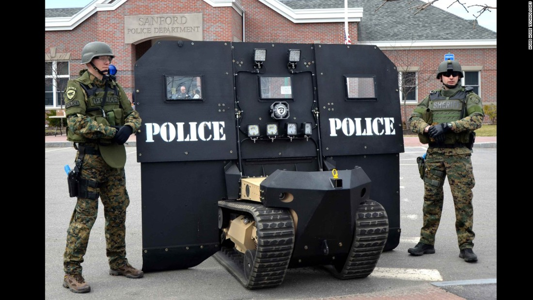 "True to its name, this device was made to be a technological asset for SWAT teams. The SwatBot was developed by <a href=""http://www.howeandhowe.com/rs1-rbs1-robotic-ballistic-shield.html"" target=""_blank"">Howe and Howe Technologies</a> along with the Massachusetts State Police to serve as ""a robotic ballistic shield, door breacher and vehicle/debris remover when the environment is deemed unsafe,"" Howe and Howe explains."