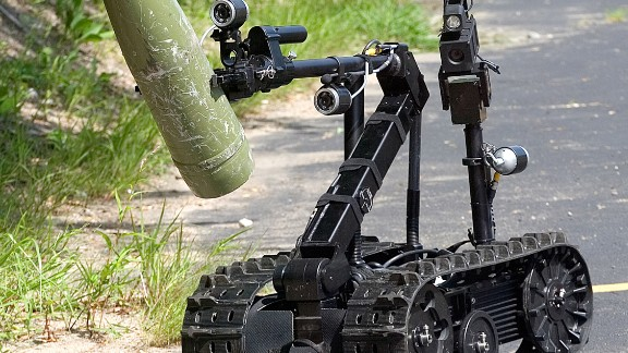 The LAPD also uses a robot called the TALON. Created by QinetiQ, the machine was made to assist law enforcement with bomb disposal, communications, hazmat situations and surveillance, among other things.