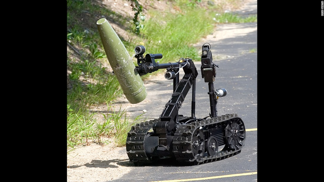 "The LAPD also uses a robot called the TALON. Created by <a href=""https://www.qinetiq-na.com/products/unmanned-systems/talon/"" target=""_blank"">QinetiQ,</a> the machine was made to assist law enforcement with bomb disposal, communications, hazmat situations and surveillance, among other things."