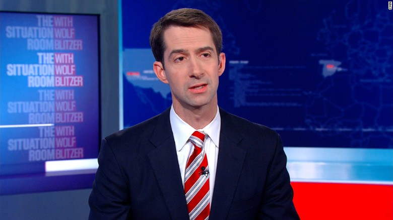Image result for tom cotton the situation room