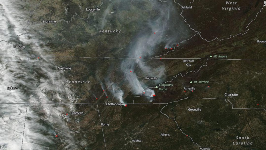 North Carolina Wildfire Map.Southern Wildfires Burn 80 000 Acres Across Six States Cnn