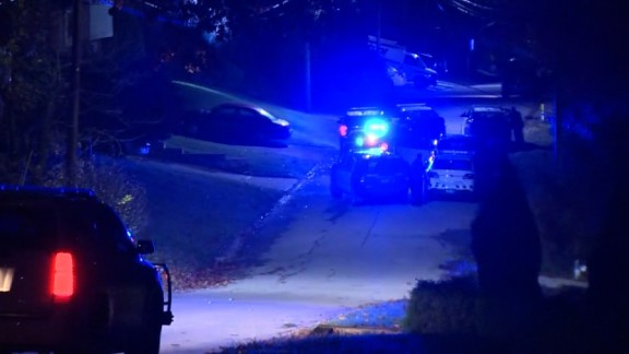 Two Canonsburg police officers were checking a report of a domestic dispute when they were shot early Thursday, police said.