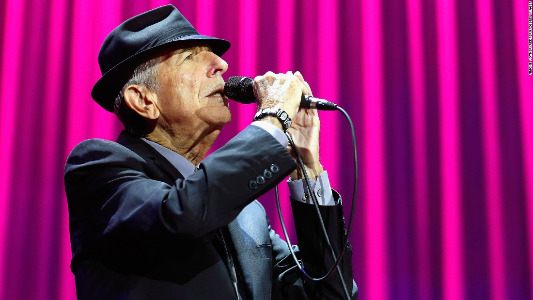 "Canadian singer-songwriter Leonard Cohen has died at the age of 82. Known for his poetic and lyrical music, Cohen wrote a number of popular songs, including the often-covered ""Hallelujah."""