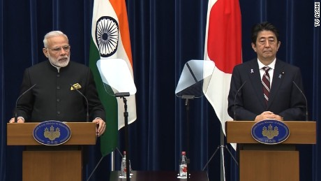 India and Japan signed a civil nuclear deal in Tokyo on Friday