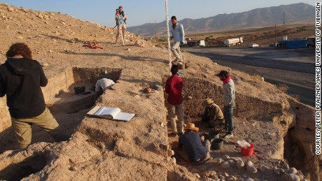 The ancient remains beneath the Kurdish village of Bassetki were under threat from highway construction.