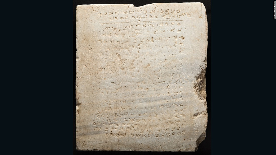 Charmant Ancient 10 Commandments Tablet Sold For $850K   CNN Style