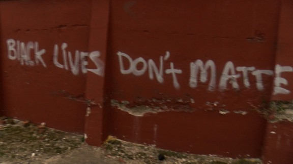 Anti-black lives matter graffiti went up by a local Durham, NC restaurant.