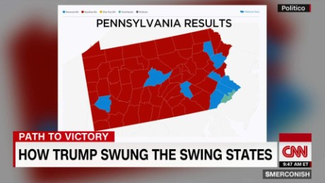 Trump Won States Map.How Trump Won Swing State Pa Cnn Video