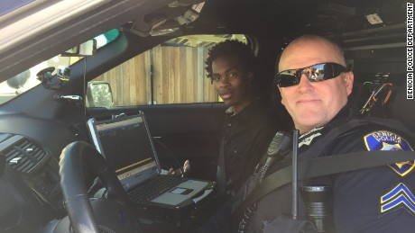 Jourdan Duncan and Cpl. Kirk Keffer have developed a friendship.