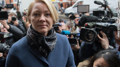 Swedish prosecutor Ingrid Isgren arrives at the Ecuadorian Embassy in London for Julian Assange's questioning.