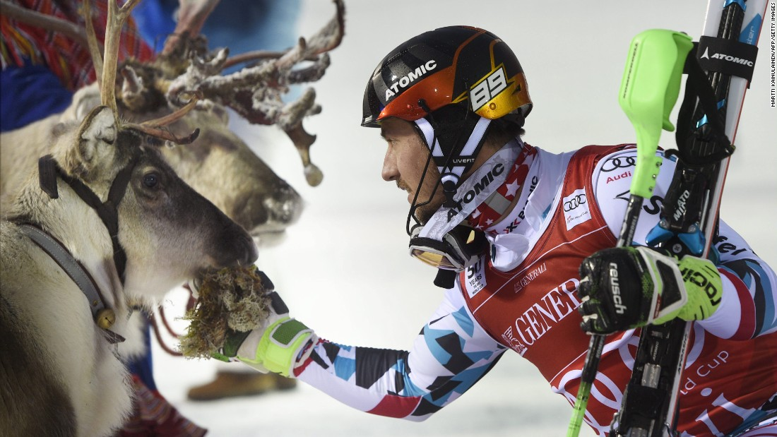 "Austrian skier Marcel Hirscher acknowledges the reindeer he won after winning the World Cup slalom race in Levi, Finland, on Sunday, November 13. <a href=""http://www.cnn.com/videos/sports/2016/11/14/spc-alpine-edge-reindeers-levi.cnn"" target=""_blank"">Video: The cutest prize in alpine skiing</a>"