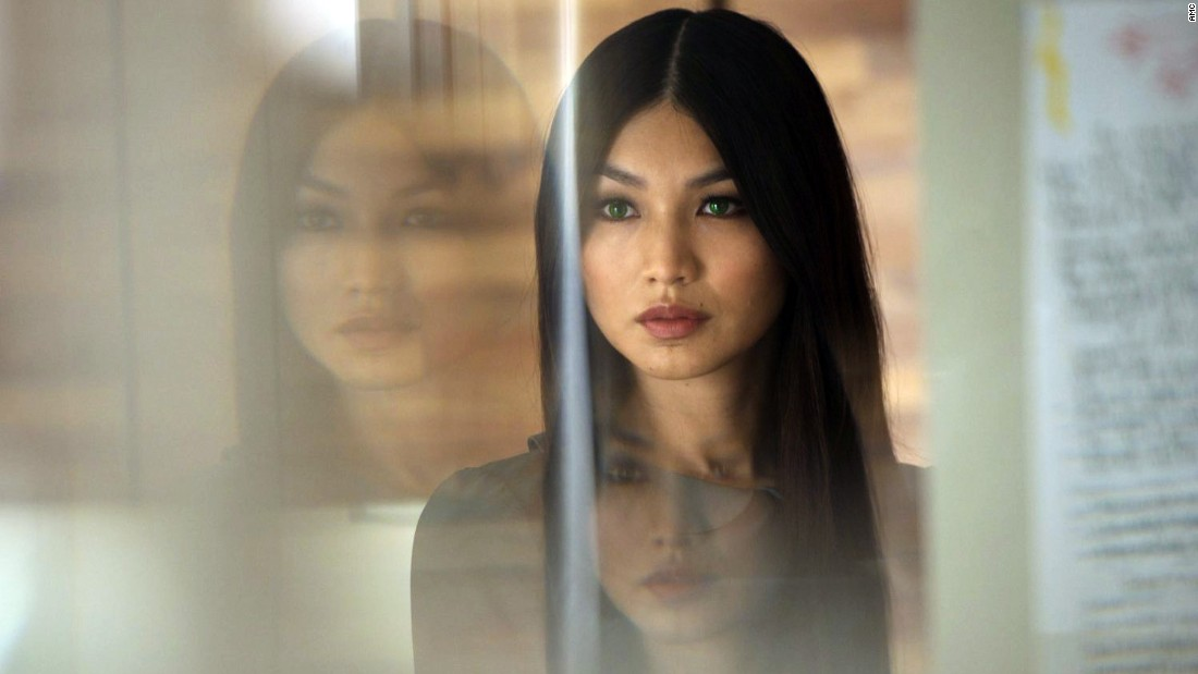 "In the AMC show ""Humans,"" anthropomorphic robot Anita (Gemma Chan) is purchased by a husband to be used as an assistant in his household, but he ends up using her for sex, too. Other humans on the show also engage in sexual relationships with their ""synths."""