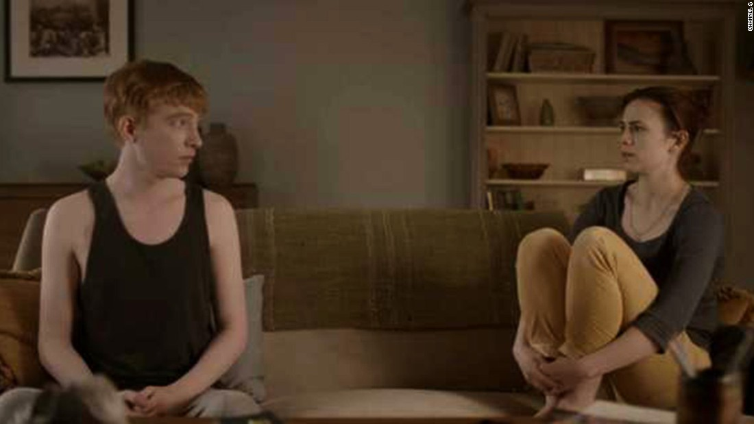 "In an episode of the TV show ""Black Mirror,"" Domhnall Gleeson and Hayley Atwell play a young couple, Ash and Martha. When Ash is killed in a car crash, Martha learns that she can keep in touch with him via an online service that eventually leads to the creation of an android resembling him."
