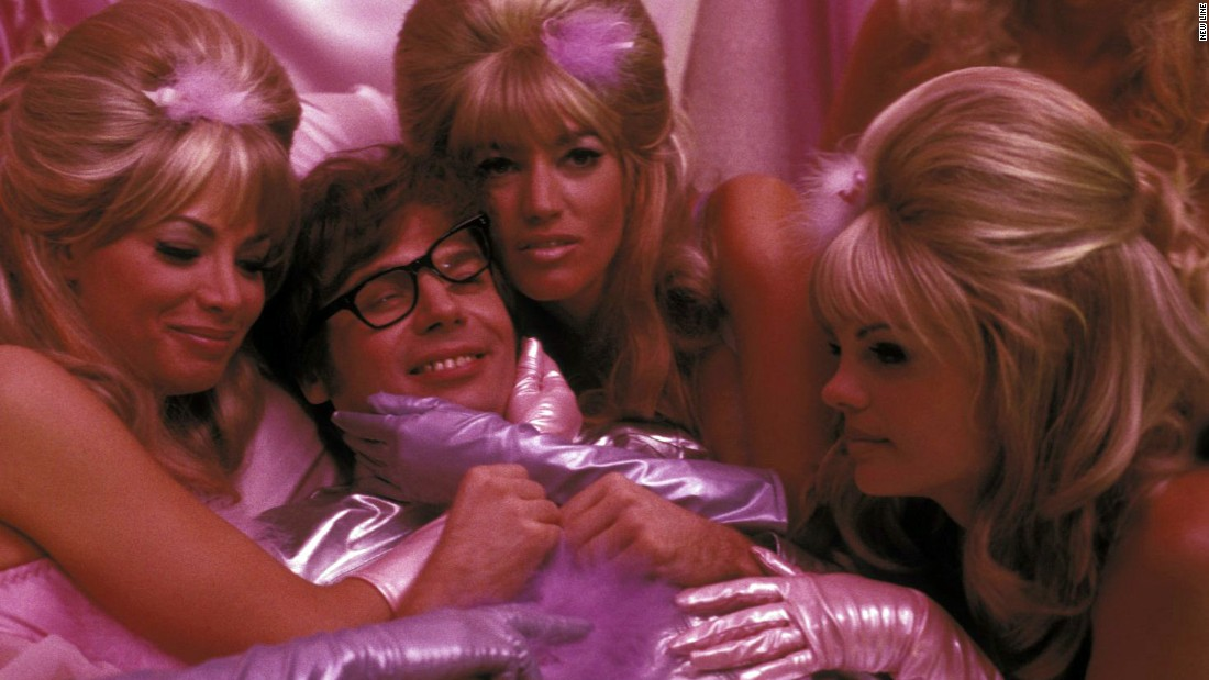 "The Fembots (Cheryl Bartel, Cynthia LaMontagne and Cindy Margolis, with Mike Myers) are designed to seduce and destroy In the film ""Austin Powers: International Man of Mystery."""