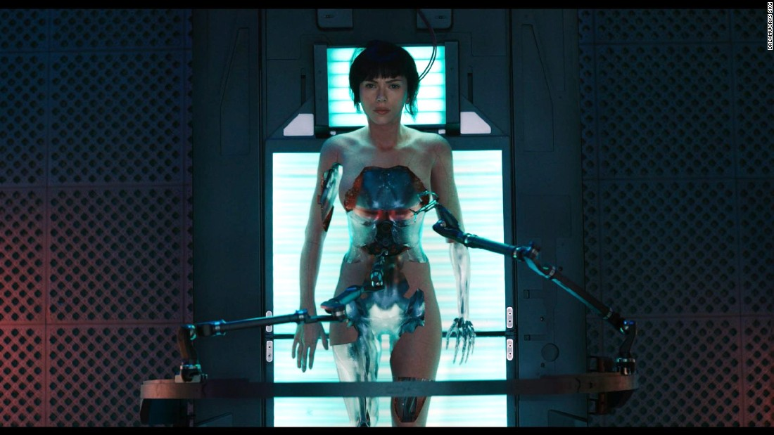 "Major Motoko Kusanagi (Scarlett Johansson) is a cyborg policewoman in ""Ghost in the Shell,"" coming to theaters in March. The live-action film is based on a Japanese manga series and media franchise. In the series, Major wears provocative outfits, has a flirty personality and has relationships with both men and women, all in an attempt to better understand humanity."