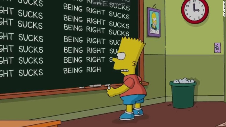 the simpsons respond to trump victory prediction being right