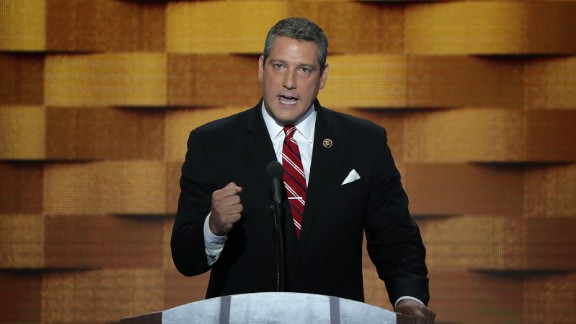 Rep. Tim Ryan delivers remarks at the Democratic National Convention on July 28, 2016, in Philadelphia.