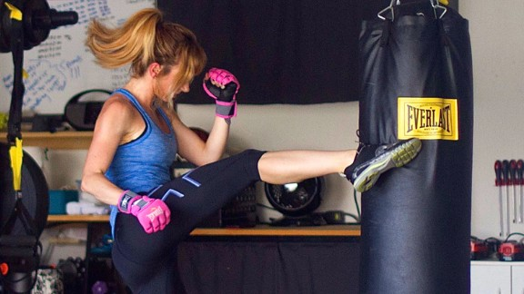 Research shows that higher-intensity exercise offers increased mood-enhancing benefits. And there's nothing quite like taking out your stress on a heavy bag, which provides uniquely satisfying tactile and auditory stimulation.