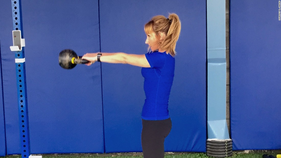 The flowing, rhythmic nature of kettlebell swings can feel like meditation in motion. It may look simple, but be sure to use proper form to avoid injury.
