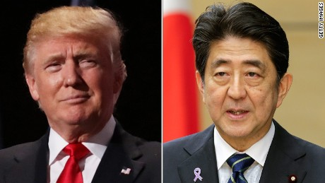Donald Trump to meet Japanese Prime Minister