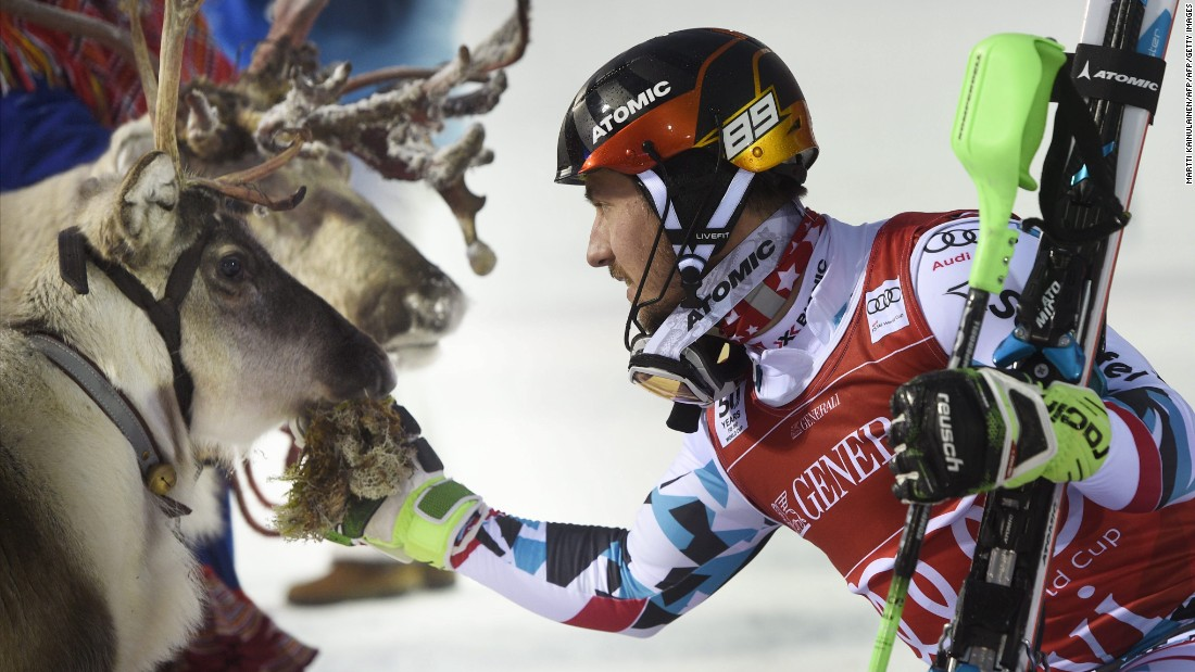 "Marcel Hirscher of Austria won the men's competition, naming his ""trophy"" Leo. Both Hirscher and Shiffrin won in 2013, meaning this is the second reindeer they can claim ownership of."